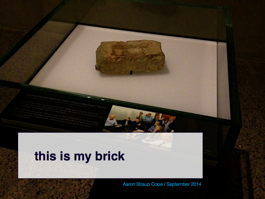 this is my brick
