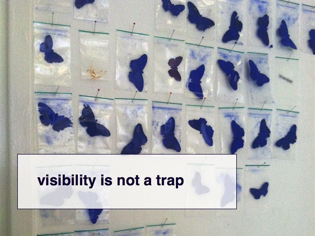 visibility is not          a trap